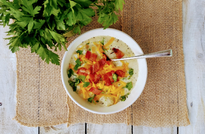 Baked Potato Soup | Read Cook Devour