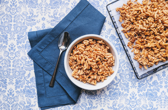 "Homemade, Naturally-Sweetened ""Smacks"" Cereal 
