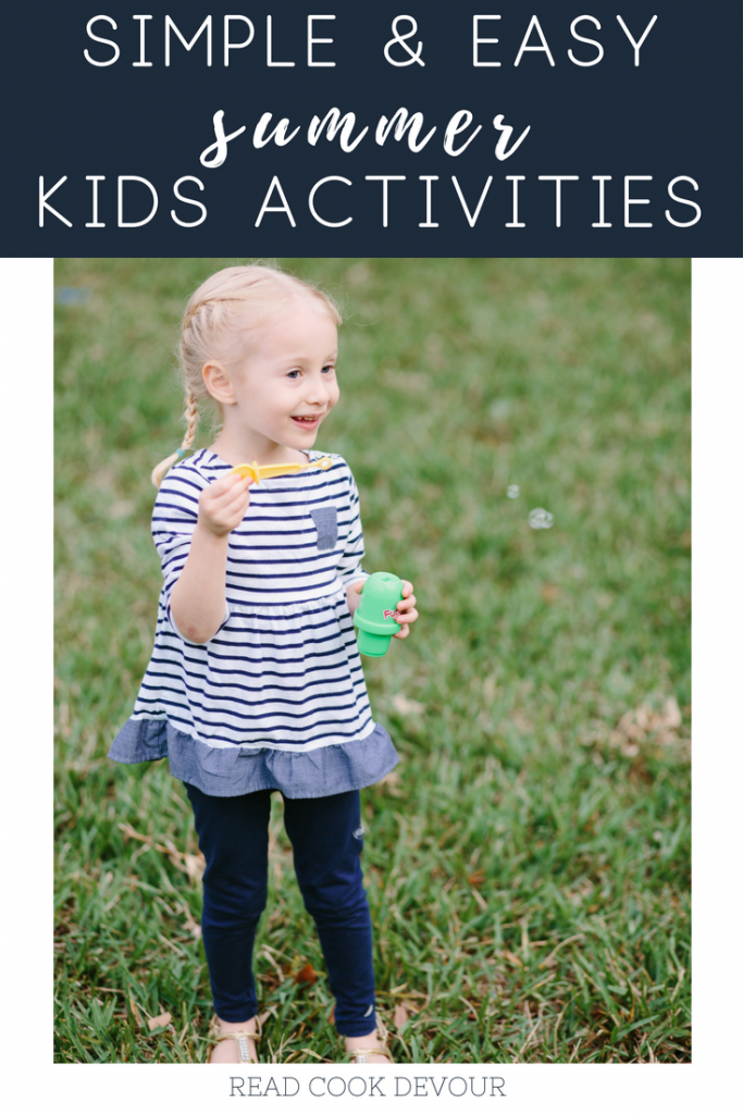 Simple & Easy Summer Kids Activities