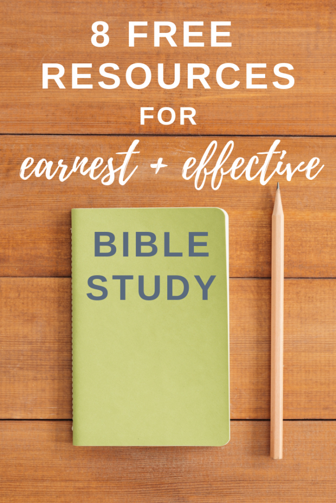 8 Free Resources For Earnest and Effective Bible Study | Tools | Podcasts | Commentaries | Worksheets | #readcookdevour #biblestudytools #biblestudy #biblestudytips